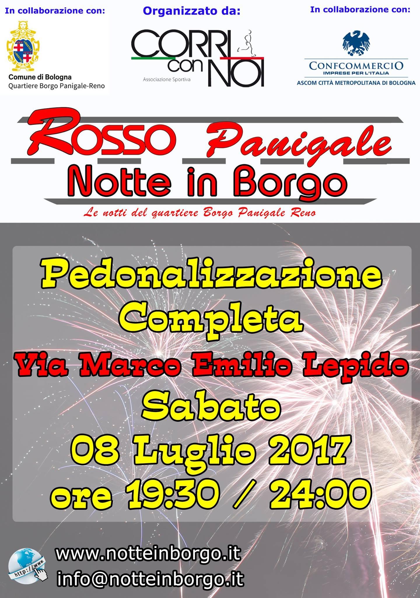 Rosso Panigale - Notte in Borgo @ Via Marco Emilio Lepido | Bologna | Emilia-Romagna | Italia