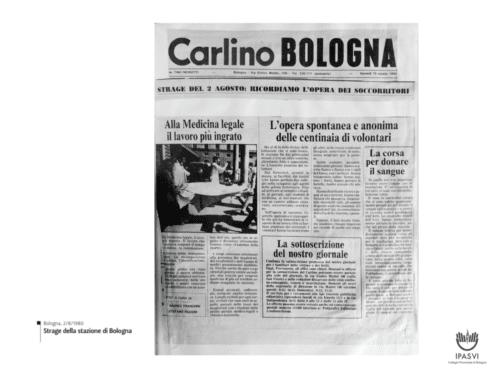 """""""La corsa per donare il sangue"""". La strage del 2 agosto 1980"""