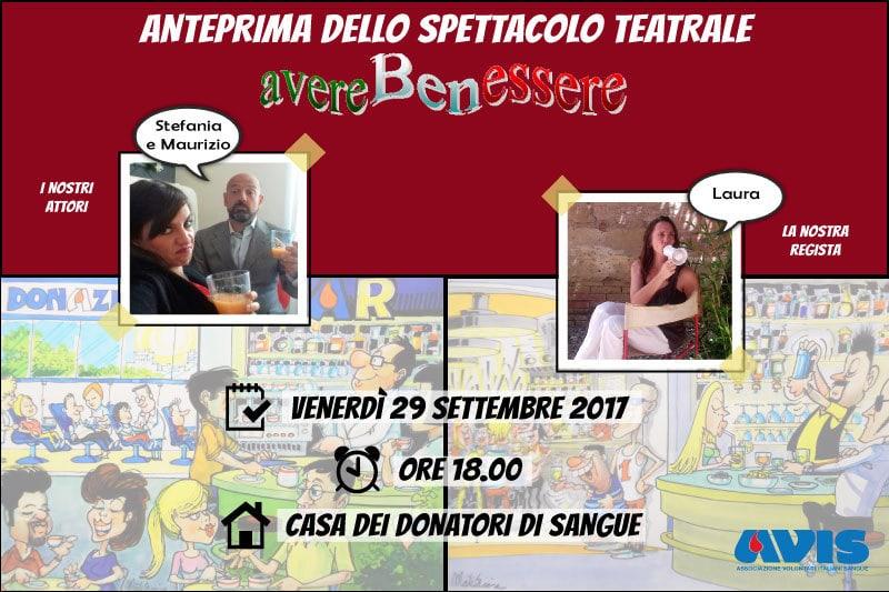 """Anteprima spettacolo """"avere Benessere""""   Area Scuola Avis Provinciale Bologna @ Casa dei Donatori di Sangue    Bologna   Emilia-Romagna   Italia"""
