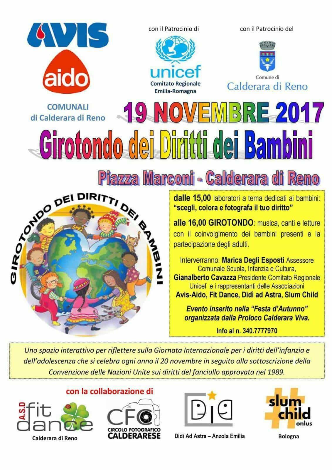 Girotondo dei diritti dei bambini a Calderara di Reno @ Piazza Marconi Calderara di Reno | Calderara di Reno | Emilia-Romagna | Italia