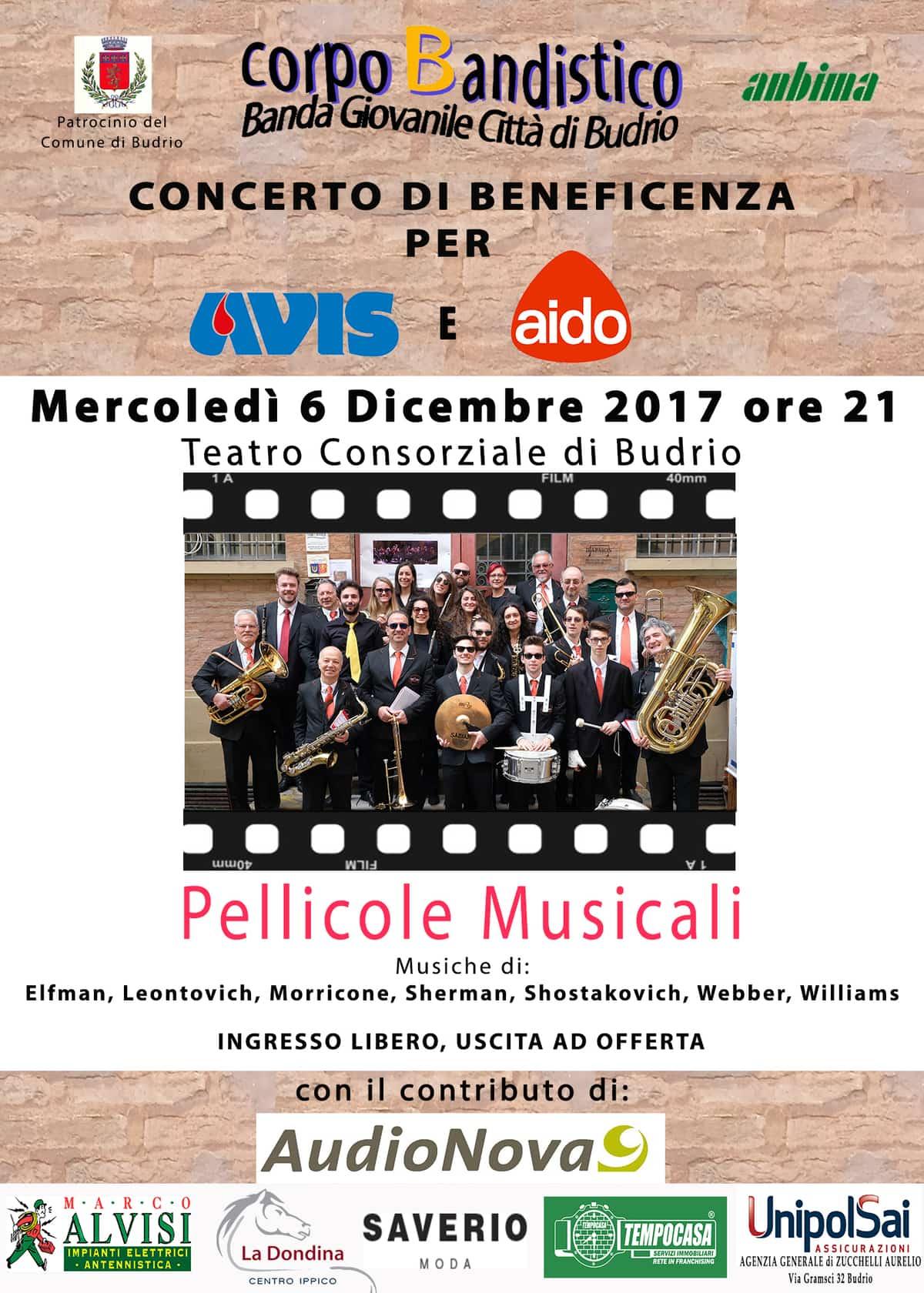 Concerto di beneficenza a Budrio per Avis e Aido @ Teatro Consorziale Budrio | Budrio | Emilia-Romagna | Italia