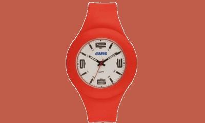 orologio gomma rosso avis