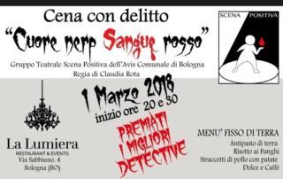 Cena con delitto Scena Positiva Avis Bologna