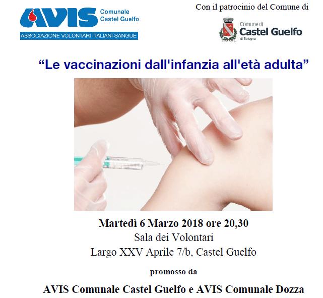 Le vaccinazioni dall'infanzia all'età adulta | Avis Castel Guelfo