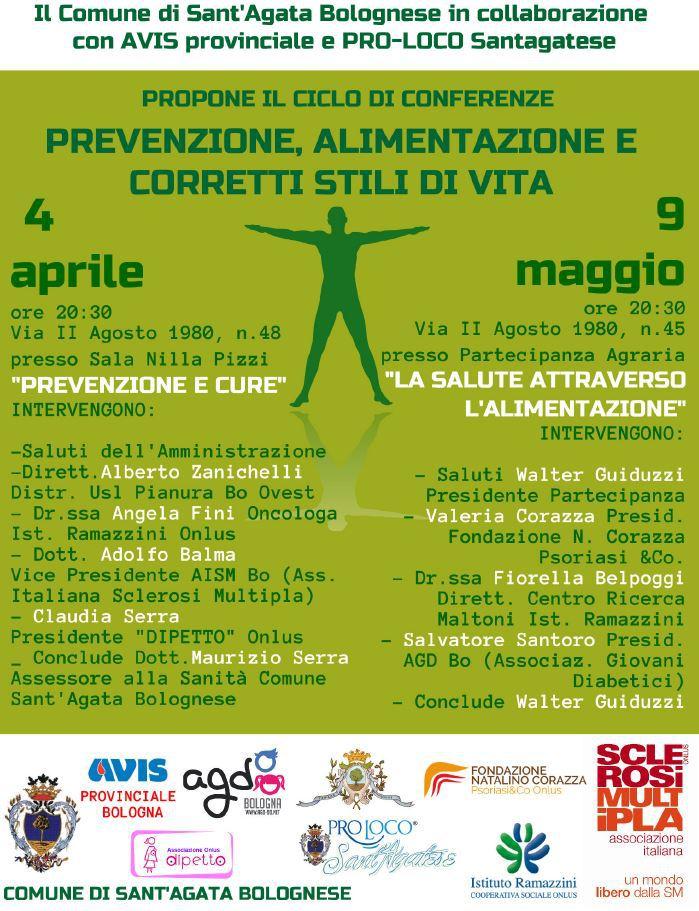 Prevenzione, alimentazione e corretti stili di vita: ciclo di conferenze a Sant'Agata | 2° appuntamento @ Partecipanza Agraria | Sant'Agata Bolognese | Emilia-Romagna | Italia