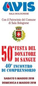 50° Festa del Donatore di Sangue con l'Avis di Sala Bolognese @ Piazza Dr. Giorgio Sarti Sala Bolognese | Sala Bolognese | Emilia-Romagna | Italia