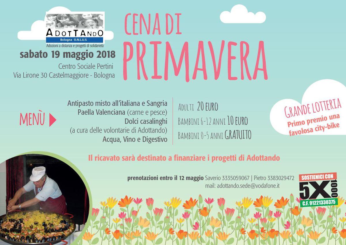 Avis Casalecchio e la Cena di Primavera @ Centro Sociale Pertini | Castel Maggiore | Emilia-Romagna | Italia