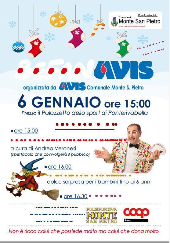 Befanone 2019 Avis Monte San Pietro @ Palazzetto dello Sport di Ponterivabella | Emilia-Romagna | Italia