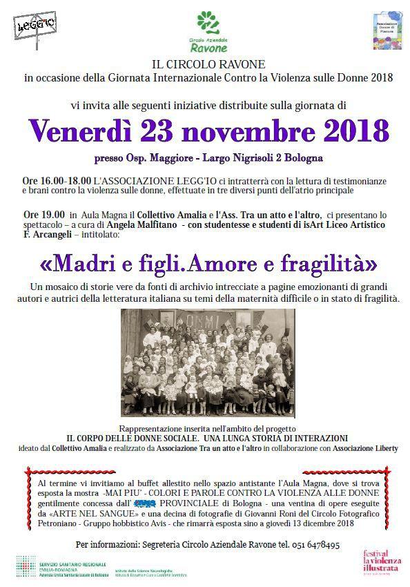 """La mostra """"MAI PIU' - Colori e parole contro la violenza sulle donne"""" @ Aula Magna Ospedale Maggiore   Bologna   Emilia-Romagna   Italia"""