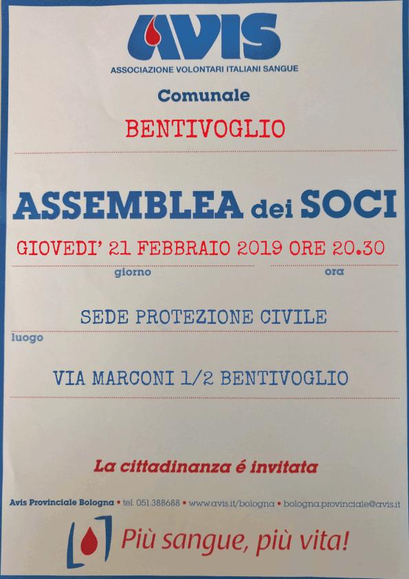 Assemblea 2019 Bentivoglio @ Sede Protezione Civile