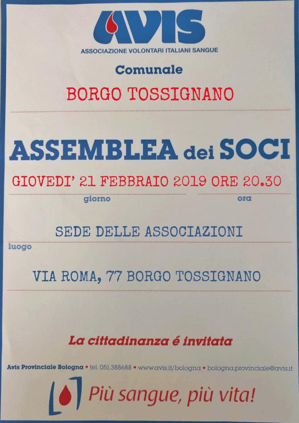 Assemblea 2019 Borgo Tossignano @ Sede delle Associazioni