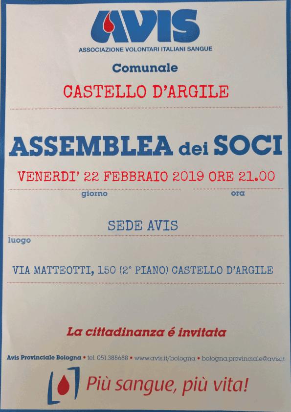 Assemblea 2019 Castello d'Argile @ Sede Avis
