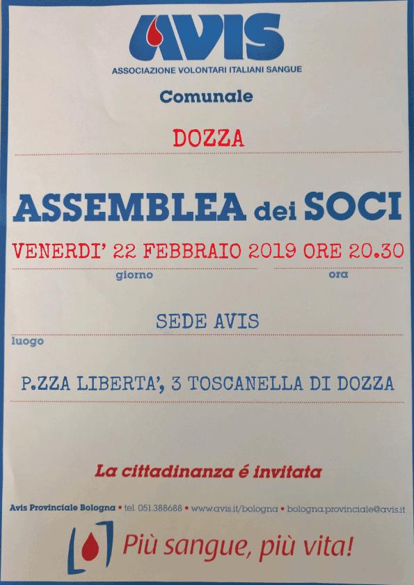 Assemblea 2019 Dozza @ Sede Avis Dozza