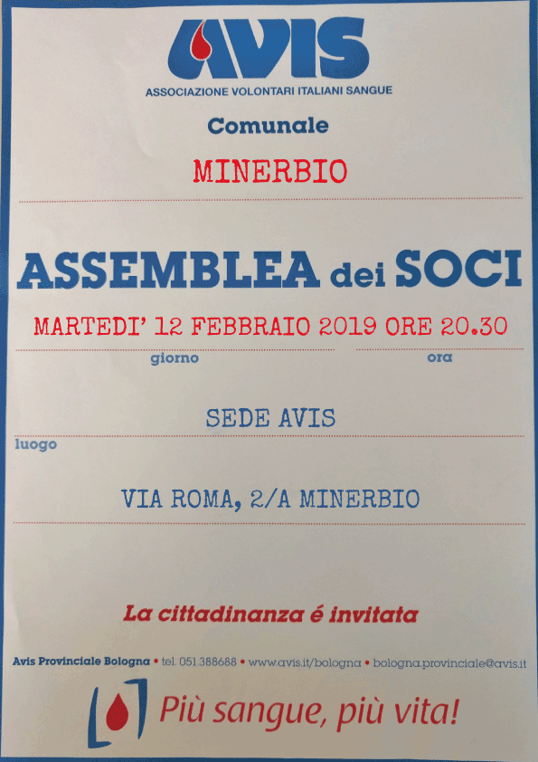 Assemblea 2019 Avis Minerbio