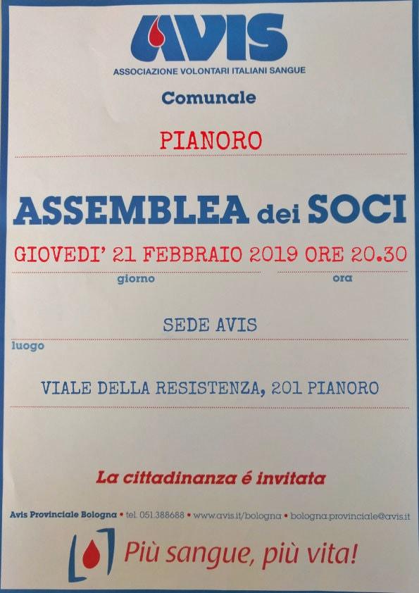 Assemblea 2019 Pianoro @ Sede Avis