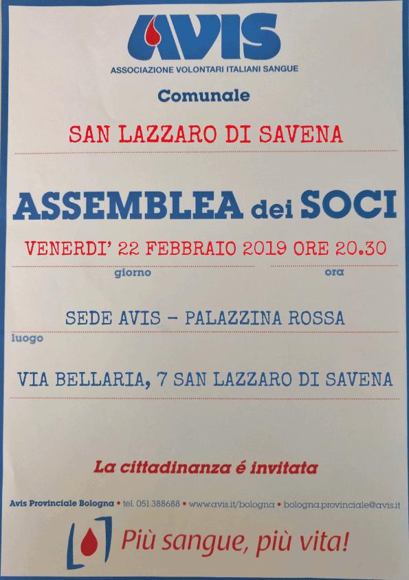 Assemblea 2019 San Lazzaro di Savena @ Sede Avis