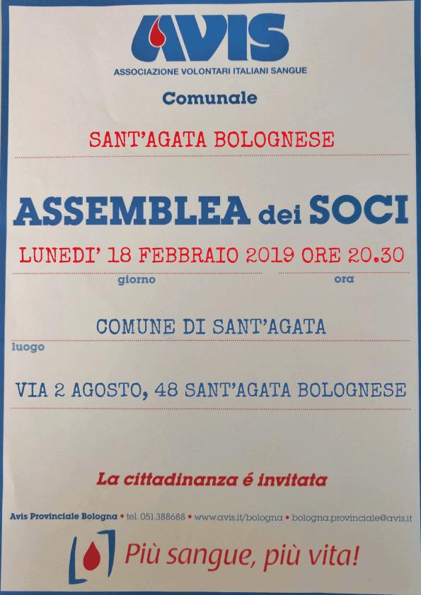 Assemblea 2019 Sant'Agata Bolognese @ Comune S.Agata Bolognese