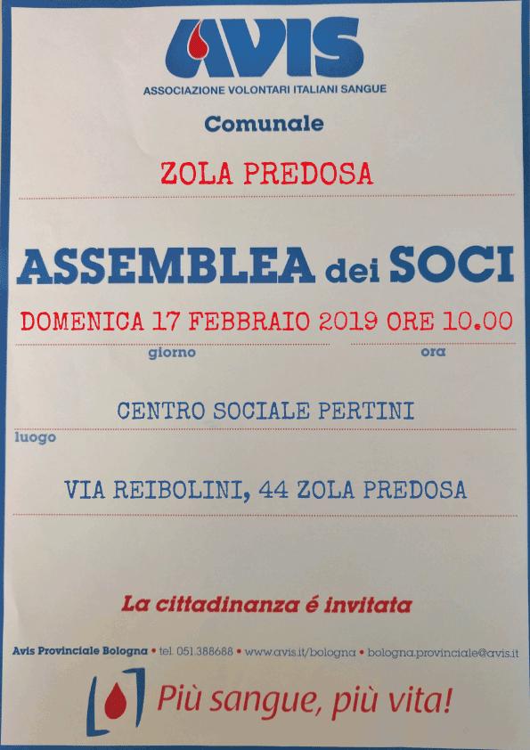 Assemblea 2019 Zola Predosa @ Centro Sociale Pertini