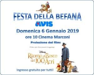 Festa della Befana Avis di Sasso Marconi @ Cinema Marconi