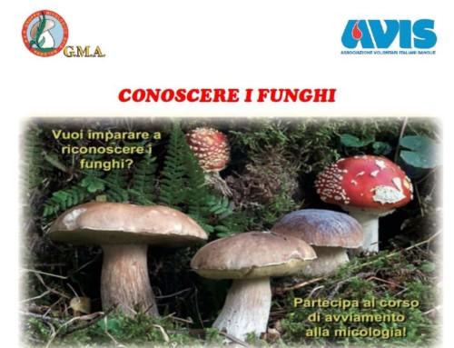 """Corso 2019 """"Conoscere i funghi"""""""