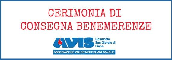 Premiazioni Avis San Giorgio di Piano