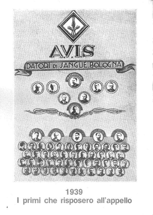 1939. i primi che risposero Avis Bologna