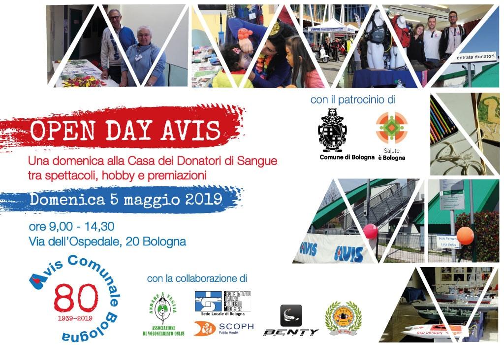 Open Day Avis. Una domenica alla Casa dei Donatori tra spettacoli, hobby e premiazioni @ Casa dei Donatori di Sangue Bologna
