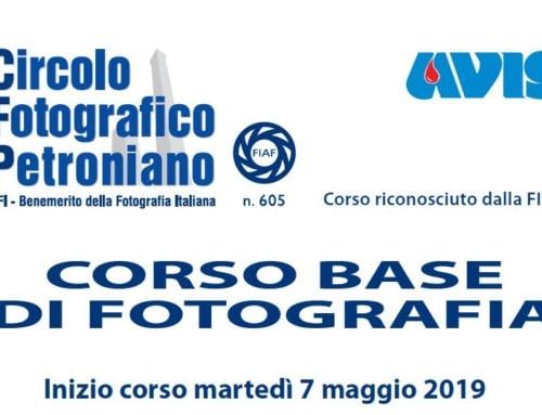 Corso Base di Fotografia 2019 in partenza il 24 settembre