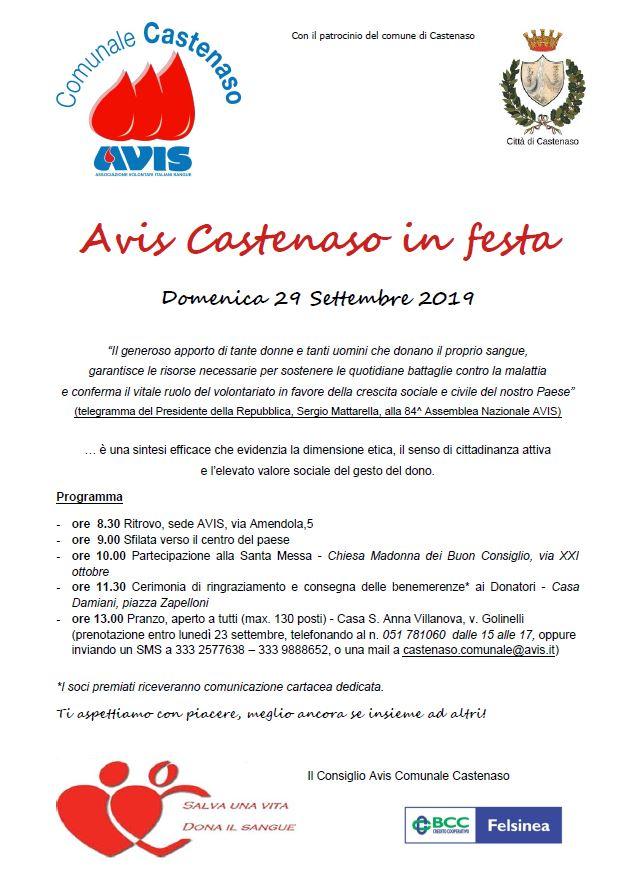 Avis Castenaso in Festa @ Sede Avis Castenaso | Castenaso | Emilia-Romagna | Italia