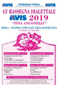 43ª RASSEGNA DIALETTALE AVIS 2019 @ Teatro Comunale dell'Osservanza | Imola | Emilia-Romagna | Italia