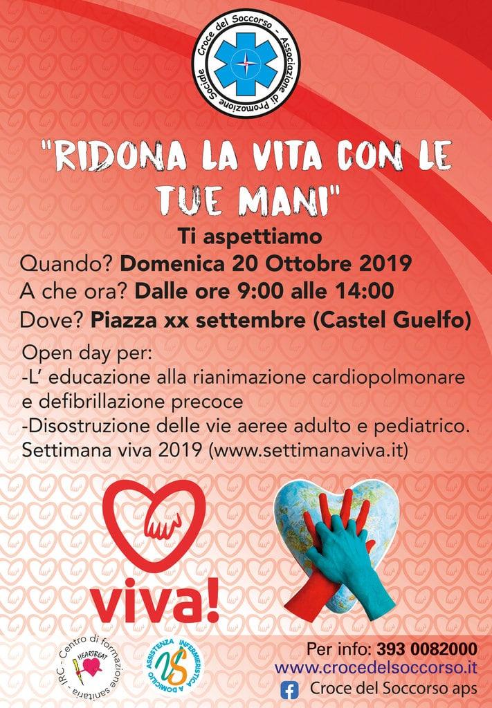 """Avis Castelguelfo a """"Viva, la settimana per la rianimazione cardiopolmonare"""" @ Piazza XX Settembre Castel Guelfo   Castel Guelfo di Bologna   Emilia-Romagna   Italia"""