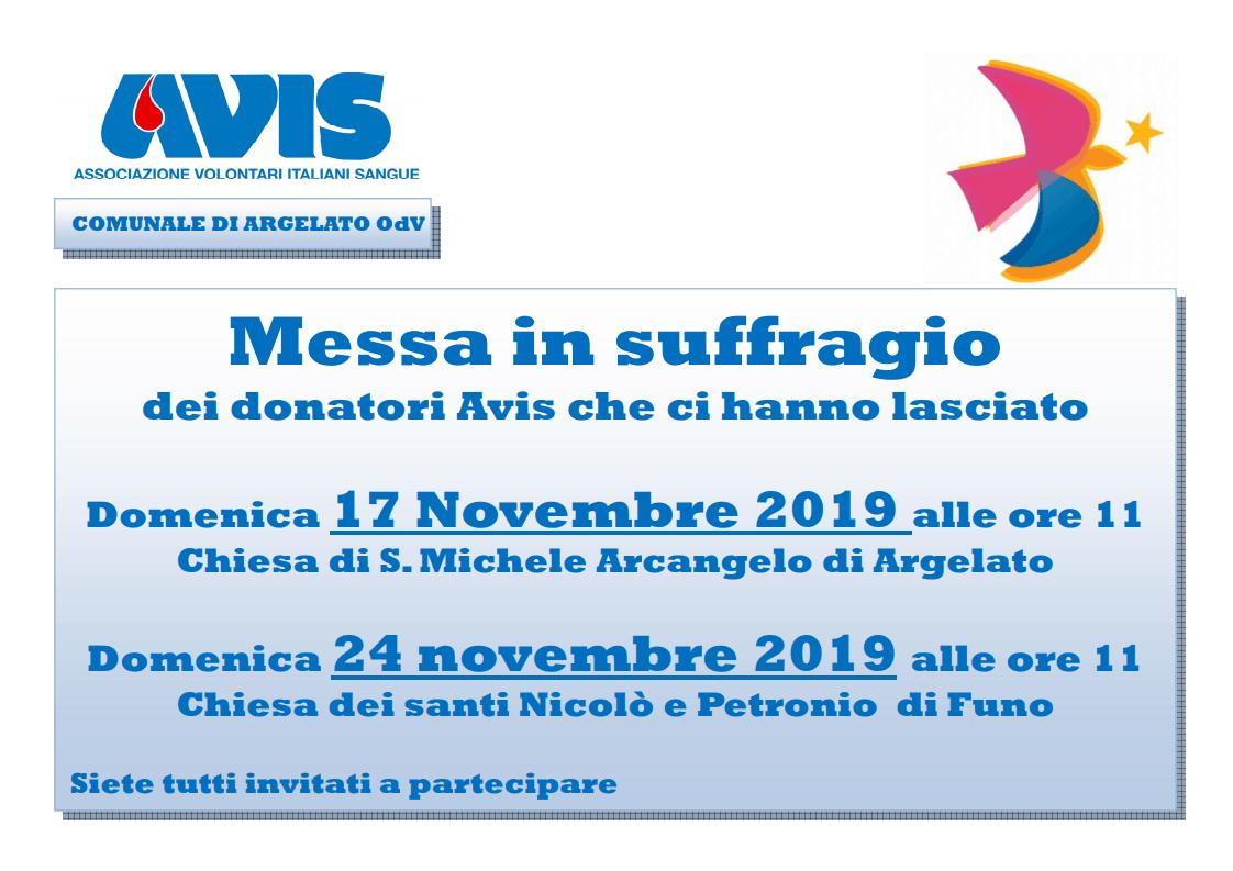 Messe in Suffragio Avis Argelato @ chiesa di nicolò e petronio | Emilia-Romagna | Italia