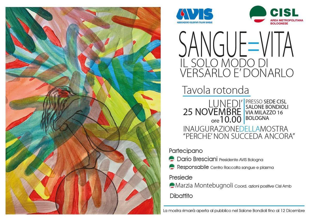 Avis e CISL contro la violenza sulle Donne @ Sede CISL - Salone Bondioli | Bologna | Emilia-Romagna | Italia