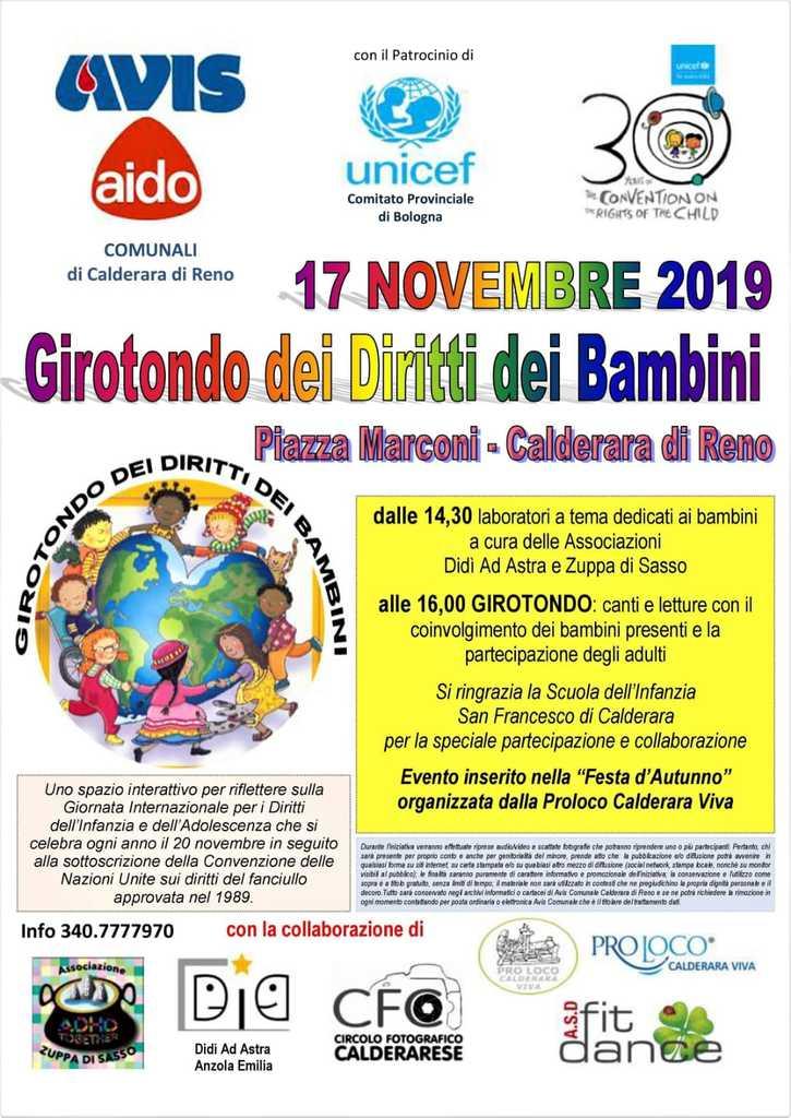 Girotondo dei bambini Avis Calderara @ Piazza Marconi | Calderara di Reno | Emilia-Romagna | Italia