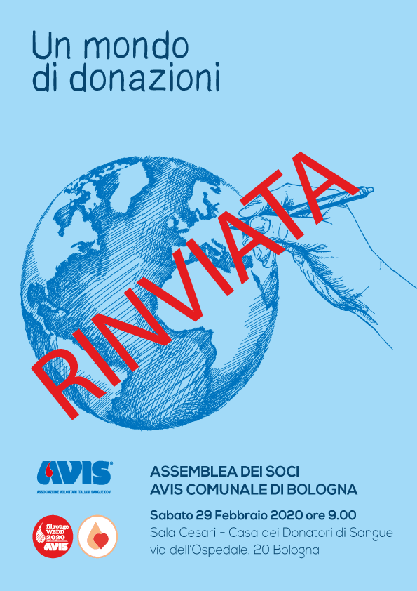 RINVIATA Assemblea 2020 Bologna @ Sala Convegni Cesare Cesari - Casa dei Donatori | Bologna | Emilia-Romagna | Italia