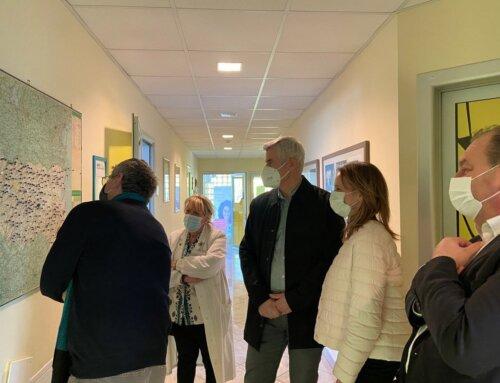 Paolo Bordon, Direttore Generale dell'Azienda USL, in visita alla Casa dei Donatori di Sangue